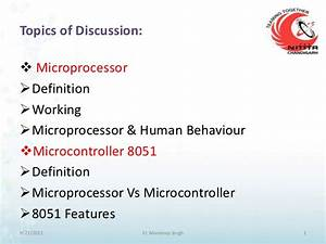 Microcontroller 8051 And Its Interfacing