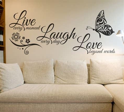 laugh love butterfly flower wall art sticker modern