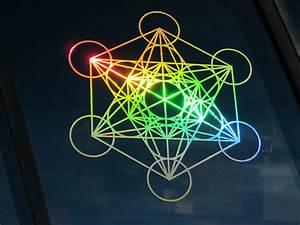 Metatron's Cube Large Prismatic Rainbow | Flower of Life