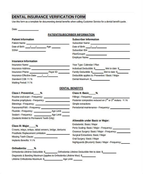 insurance verification form for chiropractic office 23 insurance verification form templates
