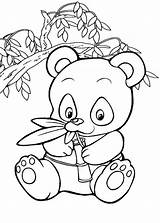 Panda Coloring Pages Baby sketch template