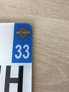 Plaque Immatriculation Verte : plaque immatriculation plexiglass moto d partement au choix et logo harley davidson ~ Maxctalentgroup.com Avis de Voitures