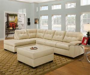 Simmons leather sectional ivory leather sectional sofa for Simmons sectional sofa with chaise