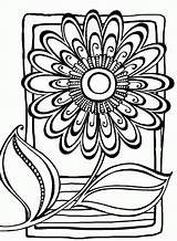 Flower Flowers Coloring Pages Abstract Adults Printable Drawings Patterns Pattern Adult Drawing Books Zentangle Zenspirations Colouring Doodle Finished Sheets Activity sketch template