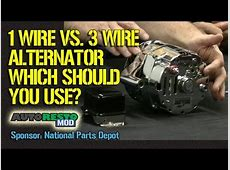 1 wire vs 3 wire alternator plus other tips for classic