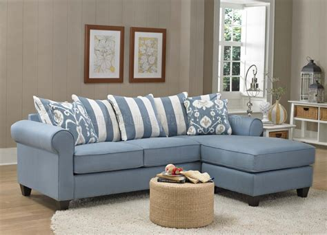 furniture light blue sofa 347710 sofa chaise in light blue fabric by chelsea