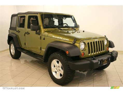 2007 Rescue Green Metallic Jeep Wrangler Unlimited Rubicon