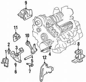 Buick Lesabre Torque Strut Bracket  Torque Strut Rear Bracket  Transmission Mount