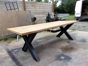Table Industrielle Bois : tables industrielle sur mesure et sur commande en bois m tal ~ Teatrodelosmanantiales.com Idées de Décoration