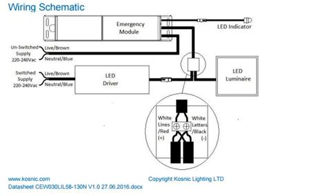 universal emergency module for led luminaires kosnic cew030lil58130n international ls