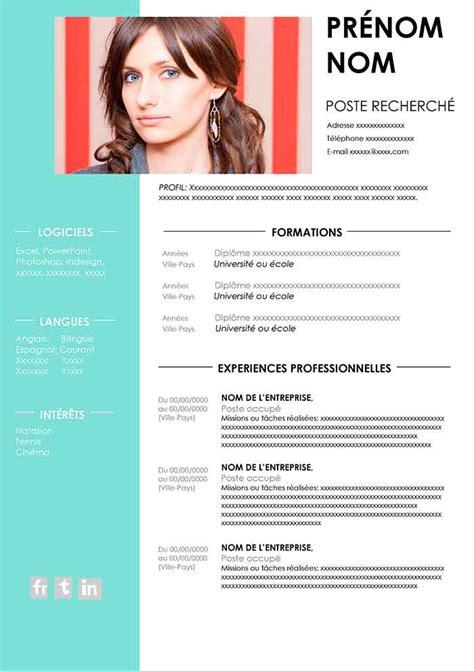 Formulaire Cv En Francais by Exemple De Cv 224 Remplir Gratuit Au Format Word Cv Word