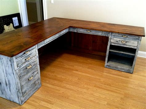 rustic l shaped computer desk l shaped desk from furniture from the barn see more at