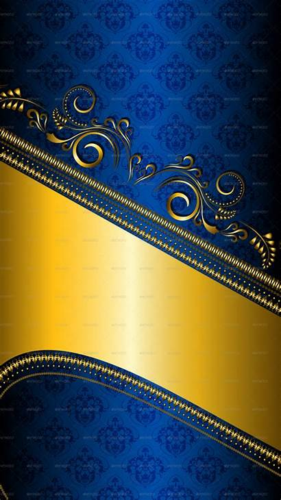 Graphicriver Gold Previewer Patterned Border Background
