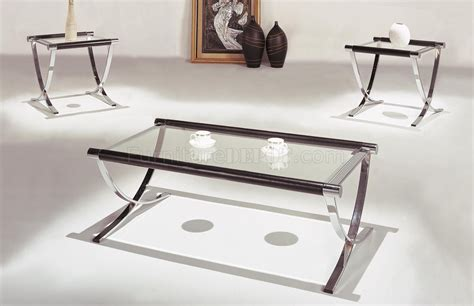 contemporary furniture coffee and end tables set of glass top contemporary coffee end tables w chrome