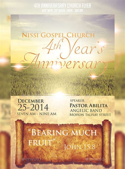 christian anniversary cards template 7 church invitation sles free editable psd ai
