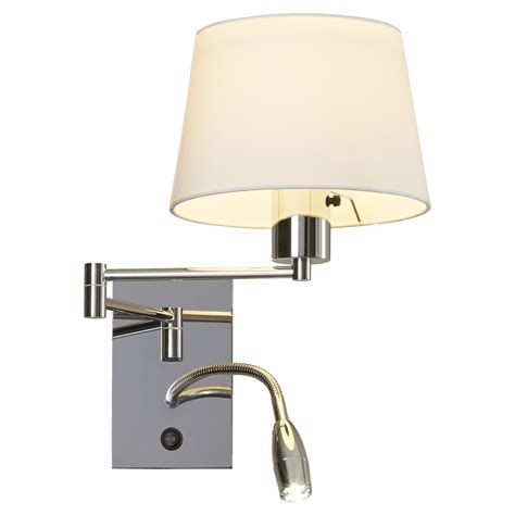 bedroom wall mounted task light dimmable bedside reading