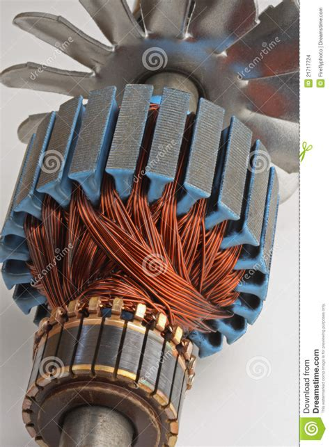Electric Motor Coil by Copper Coils From Electric Motor Stock Photo Image Of