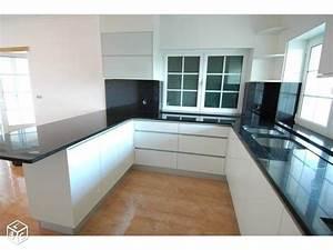 17 meilleures images a propos de cuisine blanche laque With charming meuble cuisine blanc laque 3 cuisine noir laque plan de travail bois cuisine idees