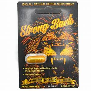 Strong Back - Male Enhancement Single Pill
