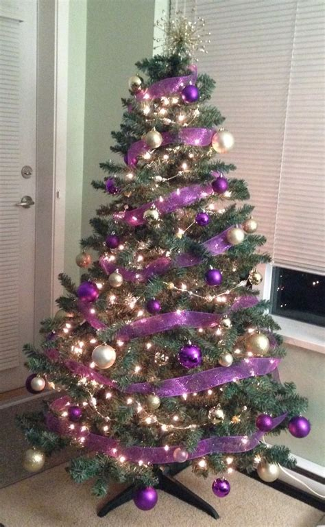 my purple and gold christmas tree ecu stuff pinterest