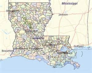 Louisiana Zip Code Map