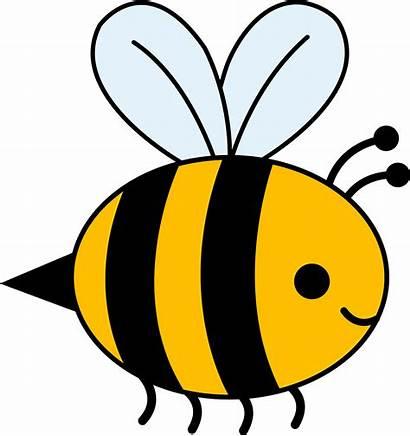 Bee Bumble Clip Cartoon Bees Honey Clipart