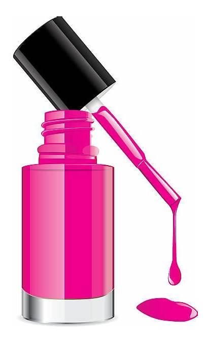 Nail Polish Pink Clipart Vector Lid Illustration