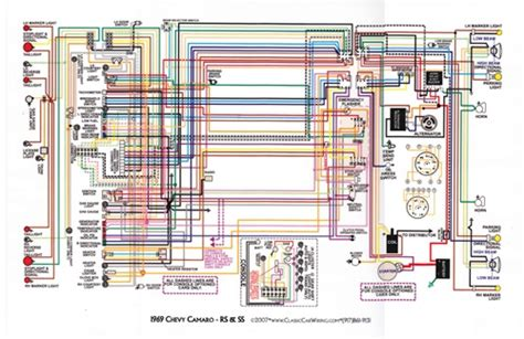 Wiring Diagram 1970 Camaro by 1967 81 Camaro Laminated Color Wiring Diagram 11 Quot X 17 Quot