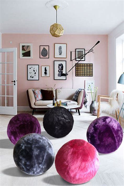 fuzzy yoga ball chair statement furnishings outlet