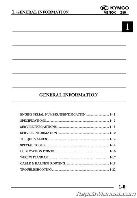 kymco venox  service manual printed  cyclepedia