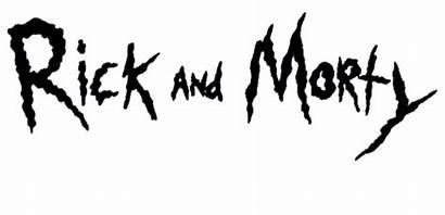 Morty Rick Title Decals Stencil Schwifty Stars