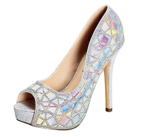 outrageous holographic shoes   wedding