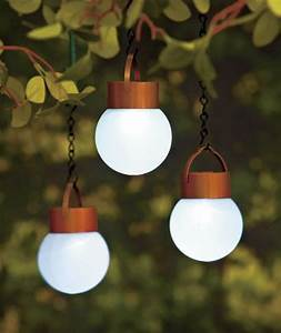 Set of hanging solar led lights porch patio deck outdoor