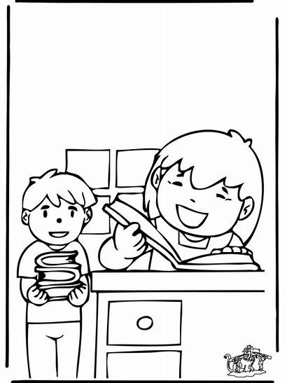 Library Coloring Pages Week National Ninos Funnycoloring