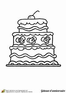 Dessin Gateau Anniversaire : dessin colorier g teau d anniversaire avec une cerise ~ Melissatoandfro.com Idées de Décoration