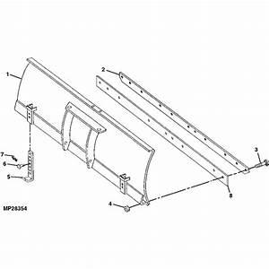 John Deere 54 U0026quot  Blade Parts Diagram
