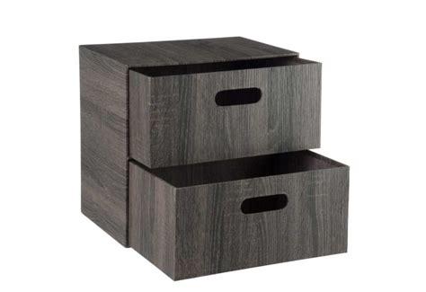 boite rangement papier boite de rangement papier 2 tiroirs marron 37x26x35cm j line by jol