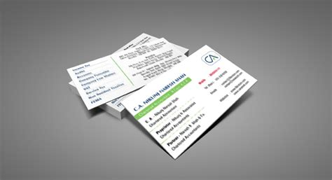 business card design  printing  chartered accounting