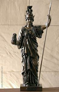 Figure of Pallas Athena in bronze 33cm - Sale of decoration