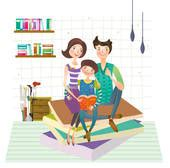 family reading together clipart clipart of family reading book together u13269201 search