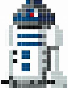 r2d2 pixel art stickaz could use as a crochet template With star wars pixel art templates