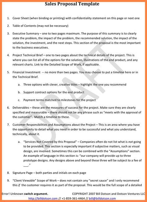 sales proposal template marital settlements information