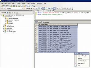 Print Sql Table Structure