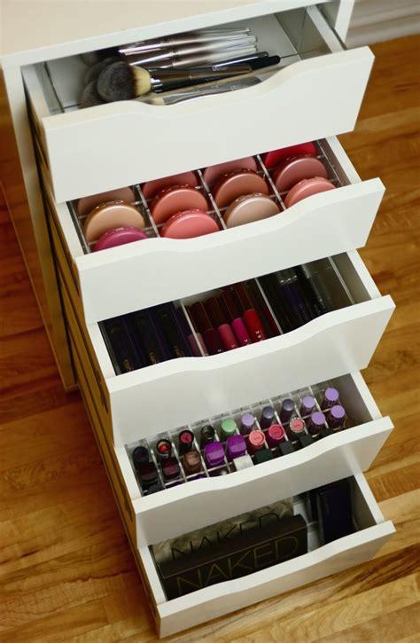 makeup drawer organizer acrylic compact makeup drawer organizer for ikea alex