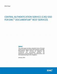 central authentication service cas sso for emc With document authentication services