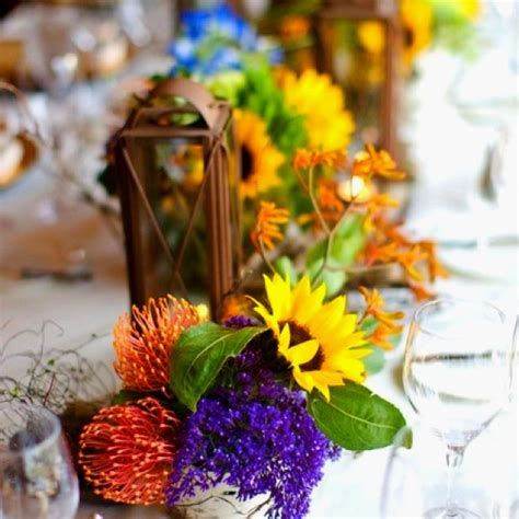 Rustic Rehearsal Dinner Centerpieces