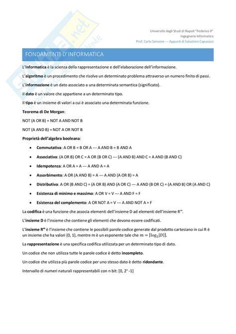 dispensa di informatica esercitazione in c appunti di informatica