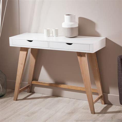 console en bois avec 2 tiroirs pablo kaligrafik meubles