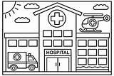 Hospital Coloring Kolorowanki Designed Architecture Sheets Well Colorier Enfants Druku Traktory Kindergarten A4 Coloriage Craft Coloringpagesfortoddlers Neiges Reine Maison Sketch sketch template