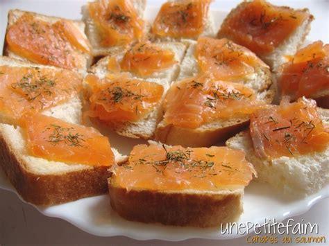 canapés au saumon une faim